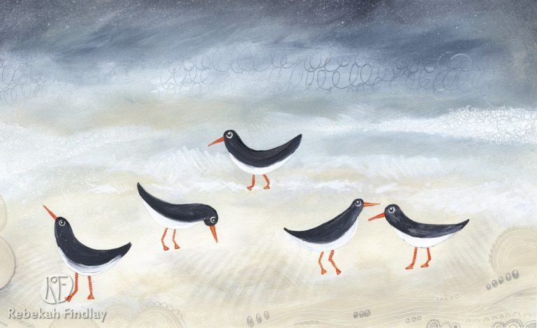 Oyster Catchers In The Surf - SOLD