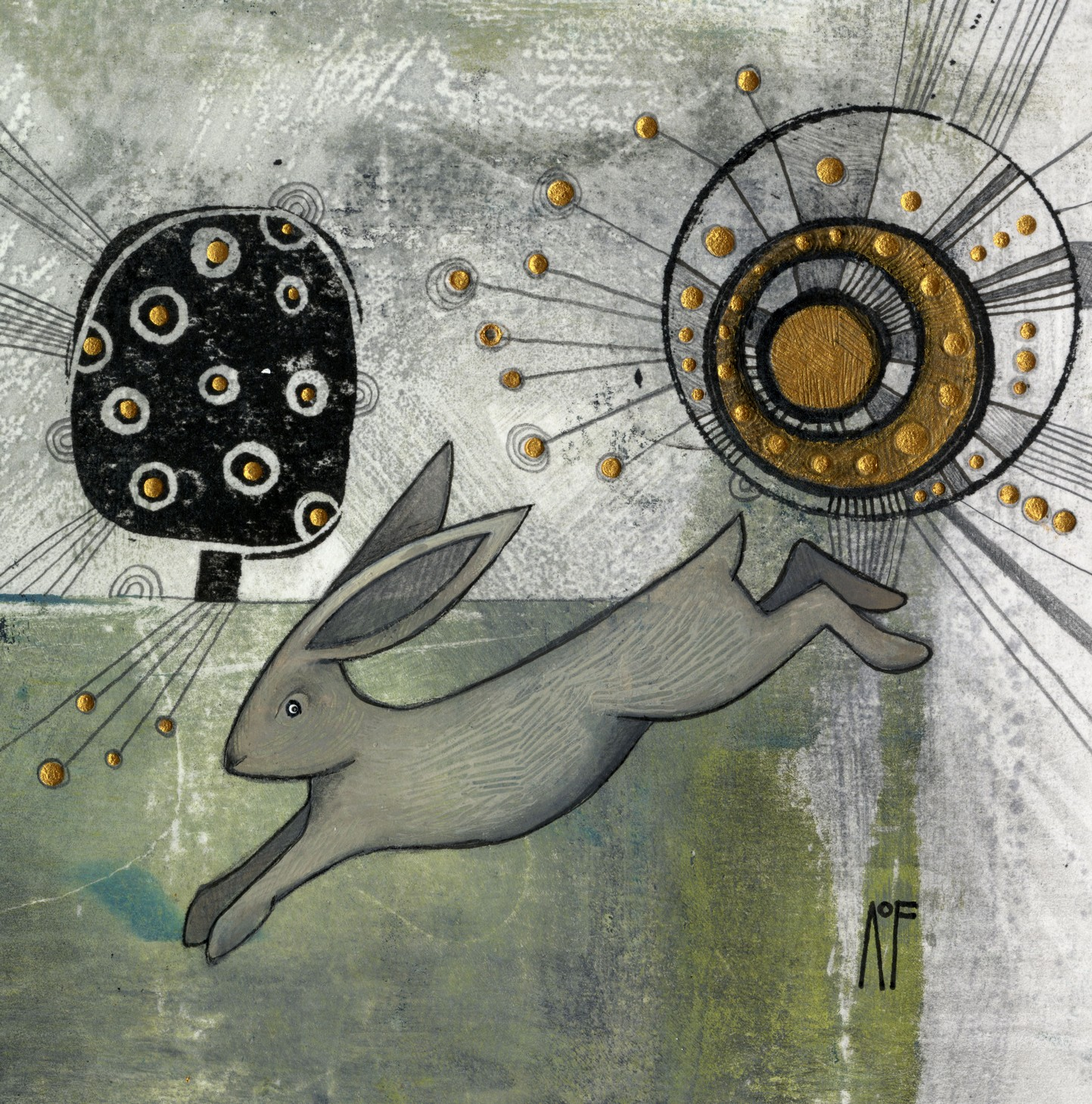 Hare & Tree - SOLD
